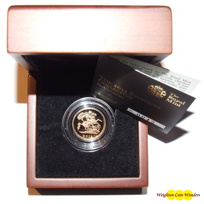 2013 Gold Proof 1/2 SOVEREIGN